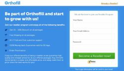 Orthofill Reseller Program Page